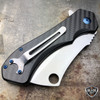 LIMITED EDITION CARBON FIBER TACTICAL Spring Assisted Pocket Knife CLEAVER
