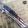 "8"" MTech USA American Flag Skull Spring Assisted Open Folding Pocket Knife"