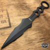 "9"" Ninja Tactical Fixed Blade Naruto Kunai Karambit Throwing Neck Combat Knife Black"