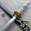 "40"" White Dragon SAMURAI NINJA Bushido KATANA Japanese Sword Carbon Steel Blade NEW"