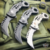 "7.5"" Heavy Duty Tactical Karambit Claw Spring Assisted Pocket Knife"