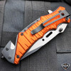 "8.25"" Military Tactical Camping Spring Assisted Open Folding Blade Rescue Knife"