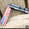 """8"""" MTech USA USA American FLAG Spring Assisted Folding Open Pocket Knife NEW"""