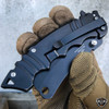 "8"" Tactical Cleaver Folding Pocket Razor Knife Combat Spring Assisted Blade NEW"