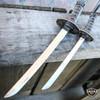 2PC Japanese Samurai Sword Fixed Blade Letter Opener Katana Knife w Stand NEW