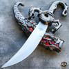 "10""  Dragon Fantasy Fixed Blade Knife Dagger Sword Medieval Ninja w/ Sheath NEW"
