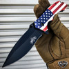 8.25 American USA FLAG Spring Assisted Folding Open POCKET KNIFE PATRIOTIC New