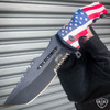 """8.5"""" CSGO Tactical USA American FLAG Spring Assisted Folding Open Pocket Knife"""