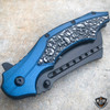 "8"" DARK SIDE Skull Tactical Spring Assisted Open FOLDING POCKET KNIFE Blade"