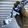 "9"" Military ARMY Tactical Spring Assisted Open Folding Rescue Pocket Knife Blade"