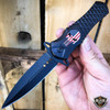 DARK SIDE BLADES Skull Punisher Tactical Spring Assisted OPEN Pocket Knife Blade