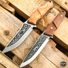 """8.5"""" Hunting Tactical Fixed Blade Survival Camping Knife w/ Wood Handle + Sheath"""