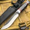 "9.5"" Hunting Survival Outdoor Fishing Fixed Blade w/ Wood Handle + Nylon Sheath"