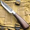 "10.5"" Hunting Survival Outdoor Fishing Fixed Blade w/ Wood Handle + Nylon Sheath"