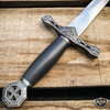 """15.75"""" Dark Knight Celtic Cross Medieval Fixed Blade Short Sword Knife Dagger"""