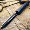 "7.5"" Interlocking Ninja Dual Blade Tactical Throwing Hunting Knife w/ Sheath"