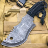 """10.5"""" HUNTING CLEAVER STONEWASH TACTICAL SURVIVAL FULL TANG FIXED BLADE KNIFE"""