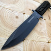 "11"" Full Tang Black Survival Hunting Fixed Blade Camping Knife w/ Sheath NEW"