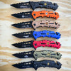 Military Combat Spring Assisted Opening Rescue Tactical Pocket Folding Knife