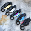 """8"""" Military Karambit Claw Spring Assisted Camping Folding Open Pocket Knife"""