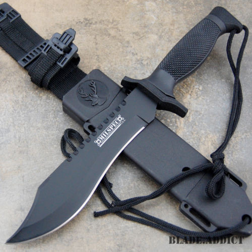 """12"""" Military Bowie Fixed Blade"""