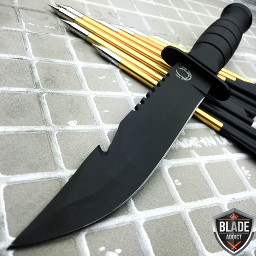 """10.5"""" Fixed Blade Gut Hook Hunting Knife"""