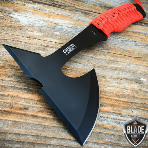 "9"" ZOMBIE SURVIVAL TOMAHAWK THROWING AXE BATTLE Hatchet Knife Hunting Camping"