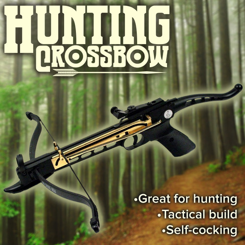 Cobra System Quality Self Cocking Pistol Tactical Crossbow, 80-Pound