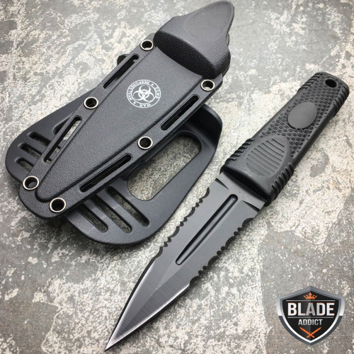 MILITARY TACTICAL HUNTING DAGGER KNIFE ZOMBIE Scuba Rescue Diving Combat Boot -9