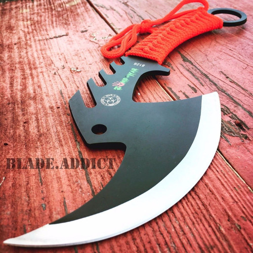 TACTICAL TOMAHAWK THROWING AXE CAMPING HATCHET KNIFE HUNTING ZOMBIE SURVIVAL