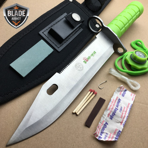 "12.5"" Bayonet Military Survival Kit Tactical Combat Hunting Knife Zombie Rambo"