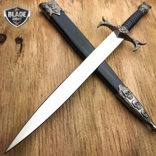 DEMON SKULL BONES MEDIEVAL TRIBAL FANTASY DAGGER historical Short Sword Knight