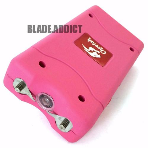 Pink Cheetah 35 Million Volt Stun Gun Rechargeable w/LED light Self