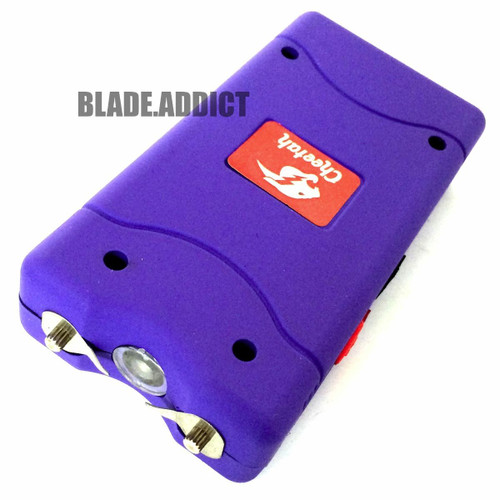 PURPLE Cheetah 35 Million Volt Stun Gun Rechargeable w/LED light