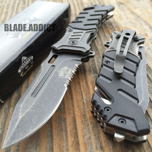 """8"""" BALLISTIC Tactical Combat Spring Assisted Open Pocket Rescue Knife"""