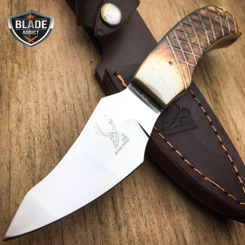"""6"""" Bone Handle Fixed Blade Camping Hunting Bowie Skinner Knife Fishing"""
