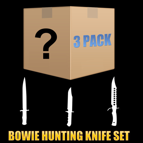 Mystery Pack - 3 Piece Set - Random Hunting Knife / Fixed Blades