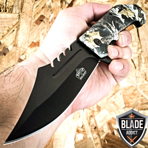 """8.5"""" BALLISTIC SPEAR CAMO TACTICAL SPRING ASSISTED OPEN FOLDING POCKET KNIFE"""
