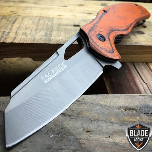 "8"" TAC FORCE TITANIUM Tactical Spring Assisted Open FOLDING Pocket Knife Cleaver"