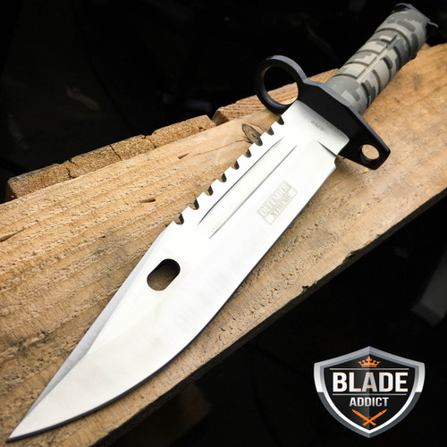 """13"""" Military Survival Rambo Fixed Blade Hunting Knife Bayonet Tactical Bowie NEW"""