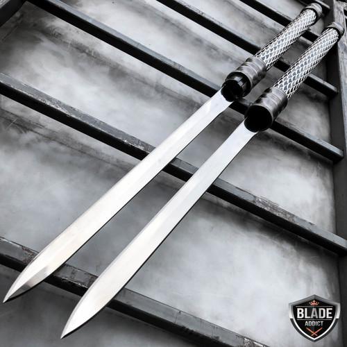 """25"""" NINJA SAMURAI Dual Blade TWIN Concealed SWORDS Katana Japanese Combat COSPLAY NEW Set"""