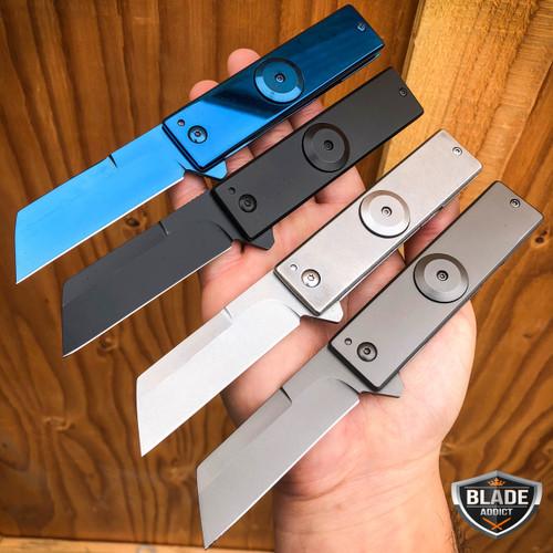 "7"" Military Tactical FIDGET SPINNER Cleaver Razor TANTO Folding Pocket Knife NEW"