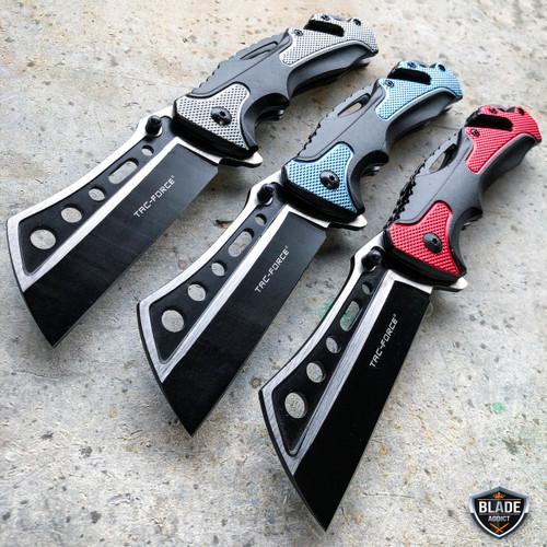 "8"" TAC-FORCE Tactical Spring Assisted CLEAVER RAZOR Rescue Pocket Folding Knife"