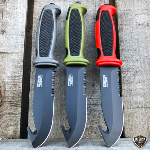 """9.25"""" Tactical Survival HUNTING KNIFE Gut Hook Military Combat Fixed Blade NEW"""