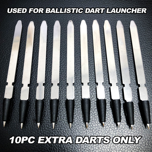 10PC Extra Metal Darts For Ballistic Dart Launcher