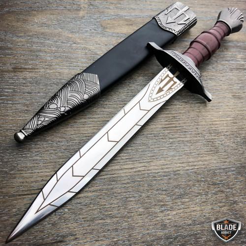 Dark Assassin Medieval Trinity Trident Fixed Blade Renaissance Dagger Knife NEW