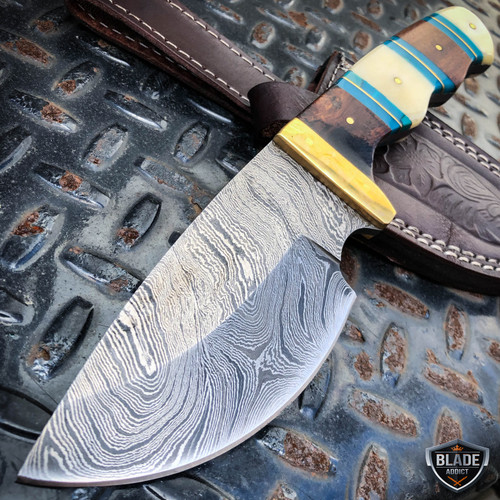 "9.5"" DAMASCUS Fixed Blade Hunting Knife"