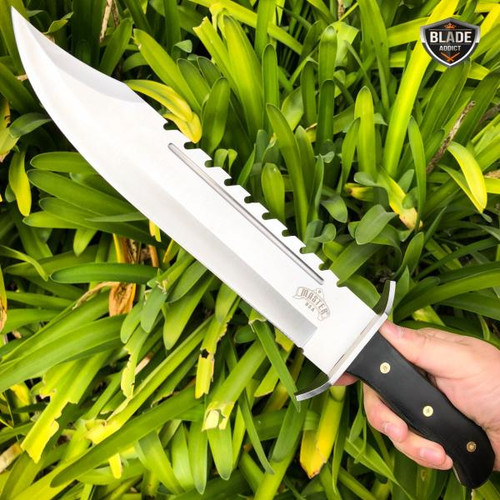 """16.5"""" GATOR BOWIE Full Tang Machete Tactical HUNTING Survival Fixed BLADE Knife"""