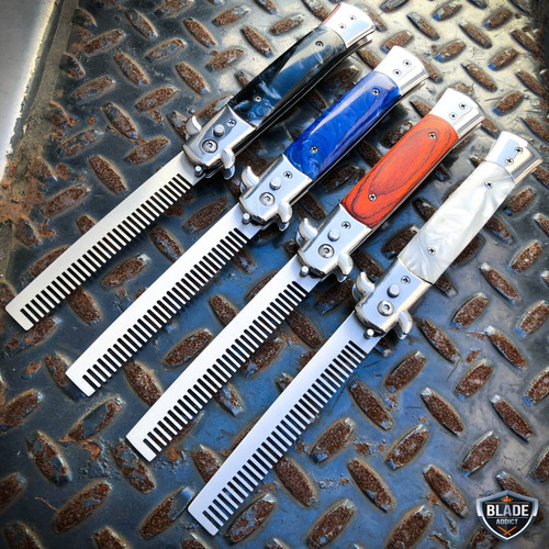 Automatic Tactical Switch Blade Comb Pocket Knife