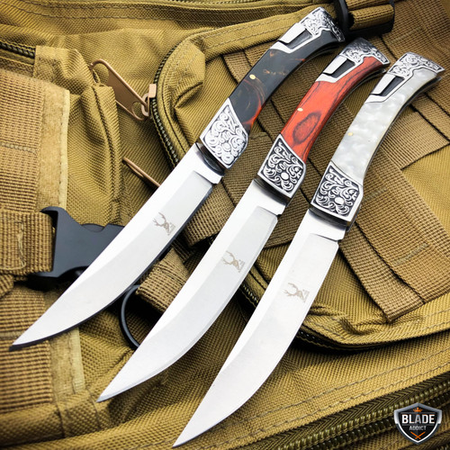 "9.5"" Classic Western FOLDING POCKET KNIFE Camping Hunting Lockback Blade"